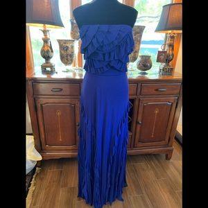 NWT Aryn K strapless ruffled maxi dress